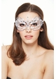 Angel Masquerade Mask with Crystal Gems inset 2