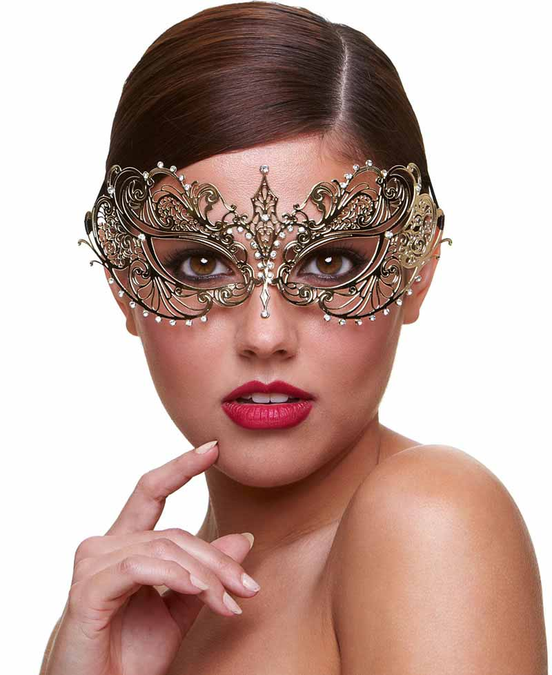 fcdfc8ffaee Angel Masquerade Mask with Crystals