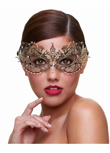 Angel Masquerade Mask with Crystals