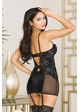 Aria Garter Dress with Silver Lace inset 1