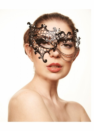 Asymmetric Laser Cut Mask with Chain