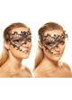 Asymmetric Masquerade Mask with Crystal Gems inset 2