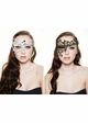 Asymmetric Masquerade Mask with Crystal Gems inset 3