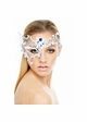 Asymmetric Masquerade Mask with Crystal Gems inset 1