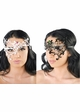 Asymmetric Masquerade Mask with Crystal Gems inset 4