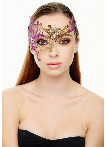 Asymmetric Masquerade Mask with Glitter