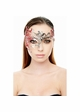 Asymmetric Masquerade Mask with Glitter inset 2