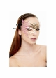 Asymmetric Masquerade Mask with Glitter inset 3