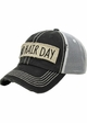 Bad Hair Day Canvas and Mesh Baseball Hat inset 2