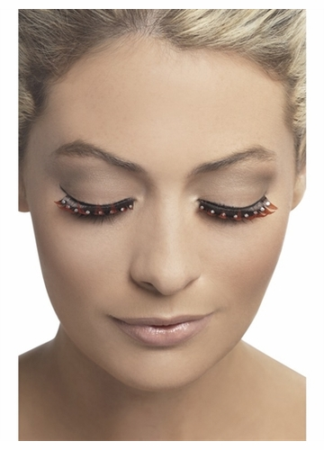 Black and Red Lashes with Crystals