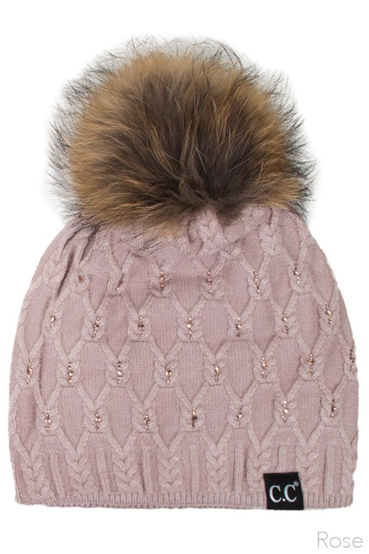 ... Angora Wool Knit Beanie Hat from CC Brand inset 2 ... e36802d968e