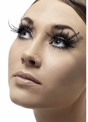 Black Feather Plume Lashes