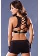 Black Lace-Up Back Sports Bra inset 1