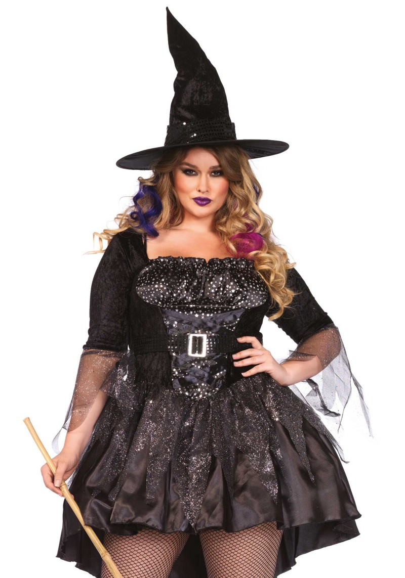 Witch Feather Adult Costume Plus Size - Women Witch Costumes |Plus Size Halloween Costumes Witch