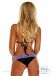 Black Sequin and Lace Pucker Back Bikini inset 1