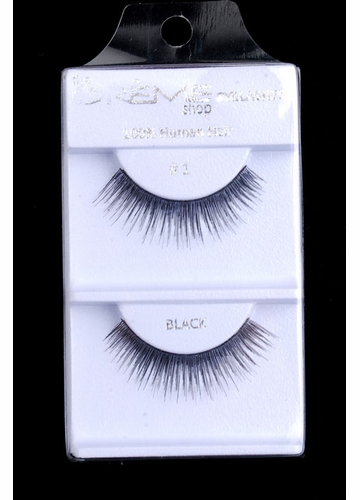 Black Textured Length Human Hair Lashes