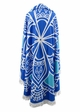 Blue Bloom Beach Blenket Coverup inset 1
