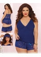 Blue Dreams Jersey Knit Cami, Shorts and Blindfold inset 1