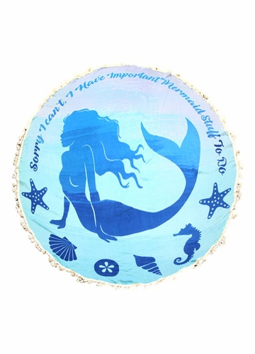 Blue Mermaid Beach Blanket Coverup