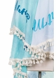 Blue Mermaid Beach Blanket Coverup inset 3