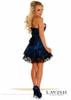 Blue Satin Corset Dress with Lace Overlay inset 1