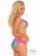 Blue Sequin and Lace Pucker Back Bikini inset 1