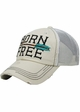 Born Free Canvas and Mesh Baseball Hat inset 4