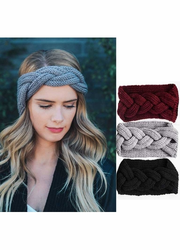 Braid Front Knit Headband