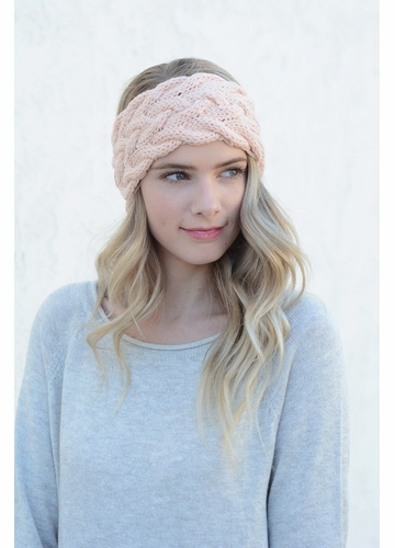 Braided Cable Winter Knit Headband