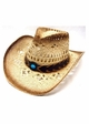 Braided Cowgirl Hat with Turquoise Band inset 1