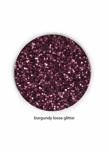 Burgundy Color of Luxe Glitter Powder for Eyeliner and Eye Makeup