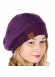 Cable Knit and Angora Beret by CC Brand inset 1