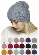 Cable Knit CC Beanie Hat with Crochet Flower inset 2