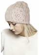 Cable Knit CC Beanie Hat with Crochet Flower inset 3