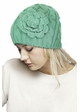 Cable Knit CC Beanie Hat with Crochet Flower inset 4