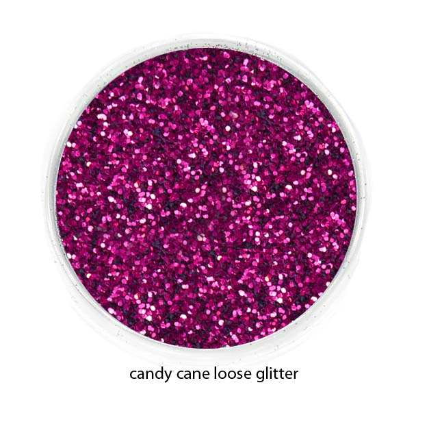 Candy Cane Red Color Of Luxe Glitter Powder For Eyeliner