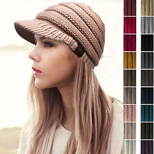 CC Beanie Hat with Brim