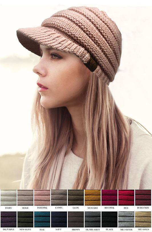 ... CC Beanie Hat with Brim inset 2 ... 934f7226f384