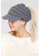CC Beanie Hat with Brim and Ponytail Opening inset 2