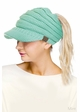CC Beanie Hat with Brim and Ponytail Opening inset 3