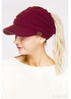 CC Beanie Hat with Brim and Ponytail Opening inset 4