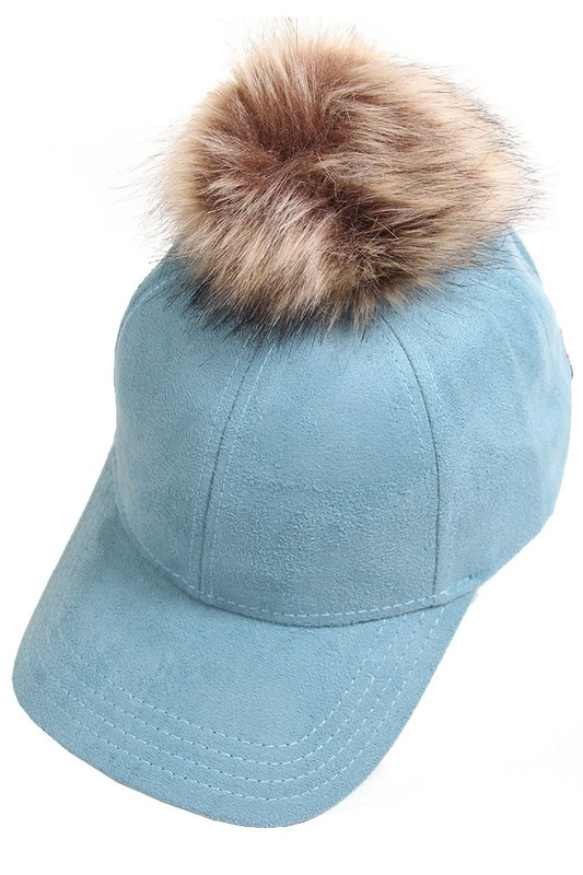 1d1bb320db1 ... CC Brand Faux Suede Baseball Cap with Pom Pom inset 4