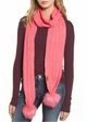 CC Brand Long Scarf with Matching Faux Fur Pompom inset 2