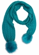 CC Brand Long Scarf with Matching Faux Fur Pompom inset 4
