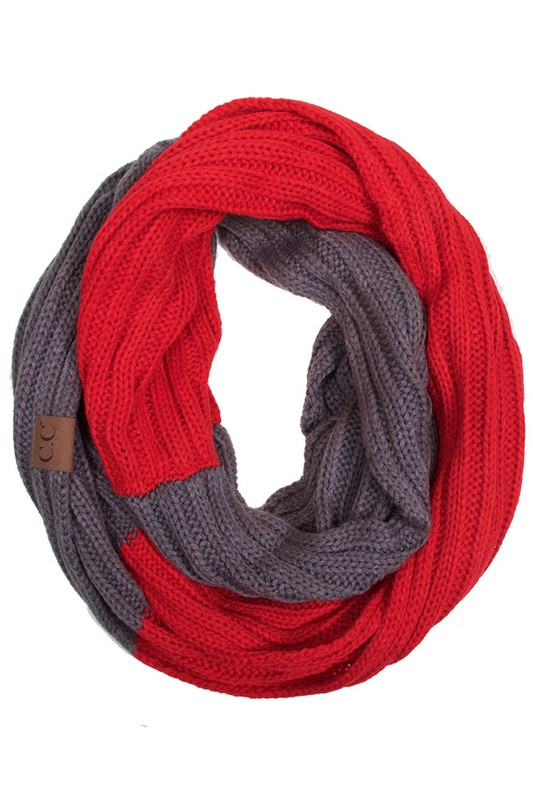 Cc Brand Two Tone College Color Infinity Scarf