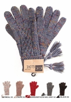 CC Cable Knit Confetti Gloves