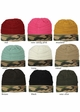 CC Knit Beanie Hat with Camouflage Cuff inset 1