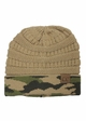 CC Knit Beanie Hat with Camouflage Cuff inset 3