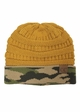 CC Knit Beanie Hat with Camouflage Cuff inset 4