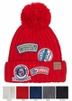 CC Knit Beanie Hat with Patches inset 1